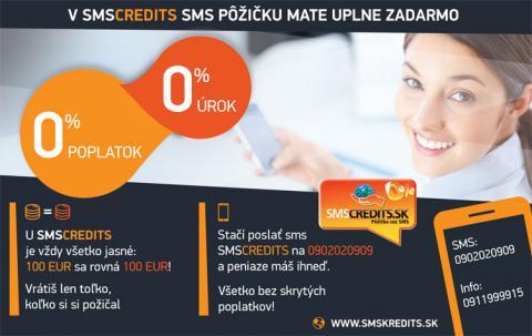 Peniaze úplne zadarmo: SMS online pozička s úrokom 0%, 0% poplatkom